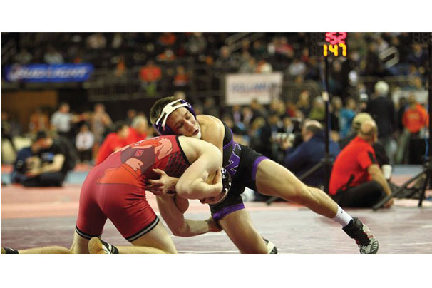 "NYU loses 25-7 at the Second Annual ""Grapple at the Garden""