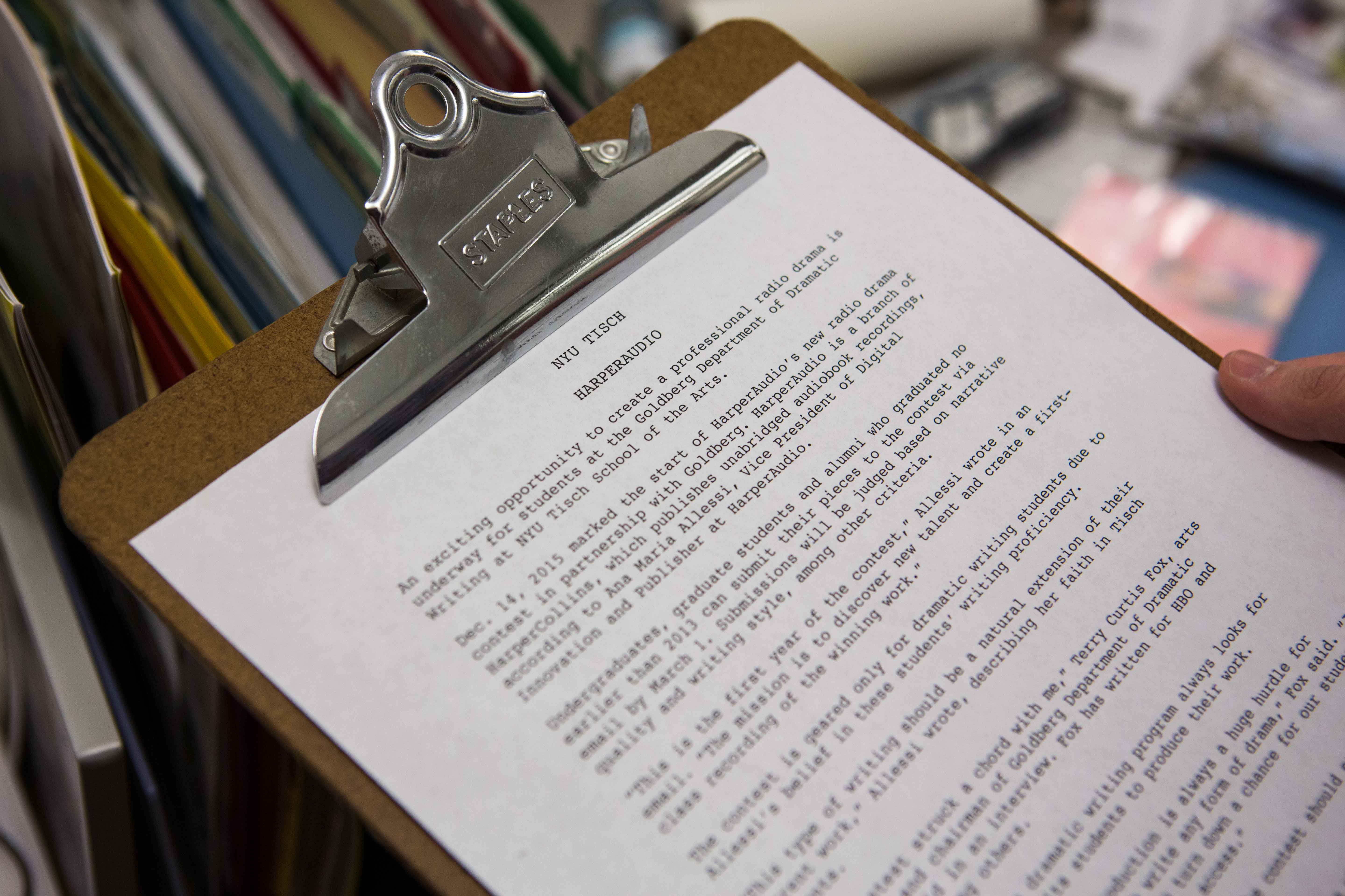 Radio Contest Puts Dramatic Writing Students on the Airwaves