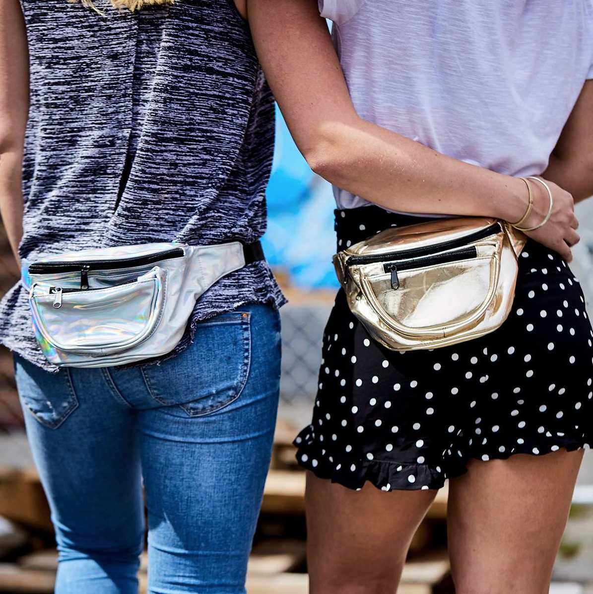 Fanny packs are a hands-free bag that are coming back into style. Even  Kendall Jenner and A AP Rocky have been toting this trend lately. a0f227f6bbdc