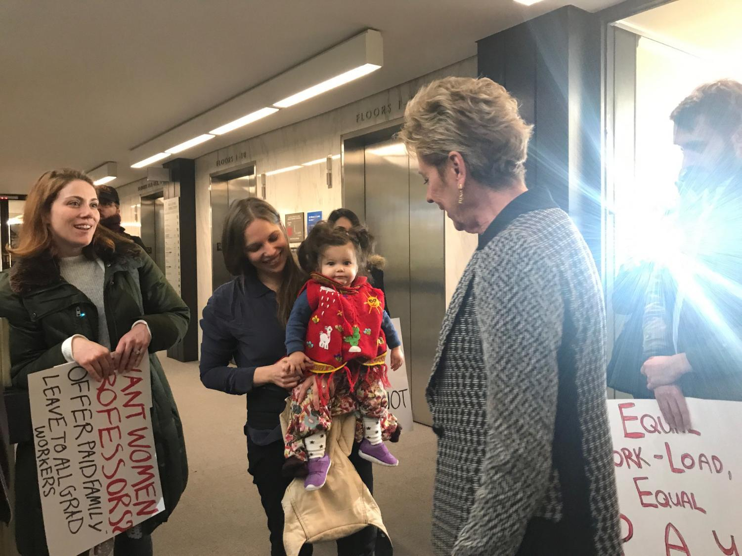 GSOC Protests for Paid Family Leave in Bobst | Washington