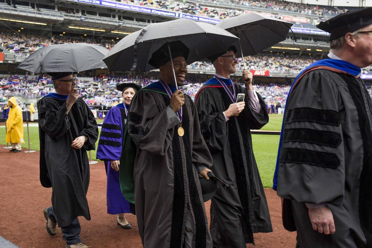 Nyus Class Of 2018 Shines Through The Showers At 186th Commencement