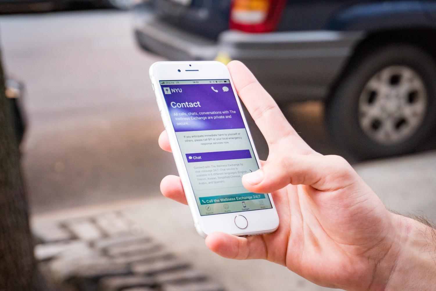 NYU Bets You Would Text a Therapist | Washington Square News